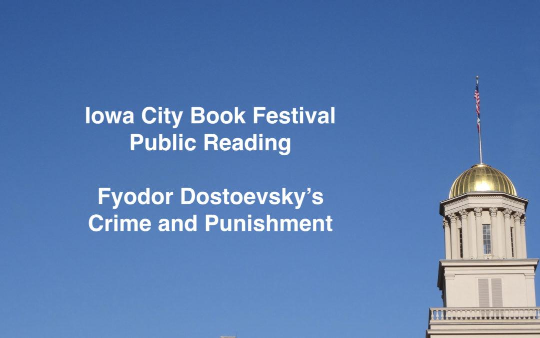 Press Citizen: Iowa City Book Festival begins with classic reading